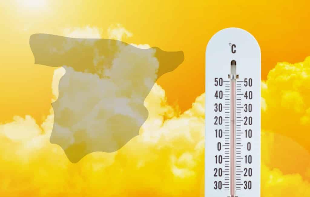Hoogste temperatuur zondag in Spanje: 42,4 graden
