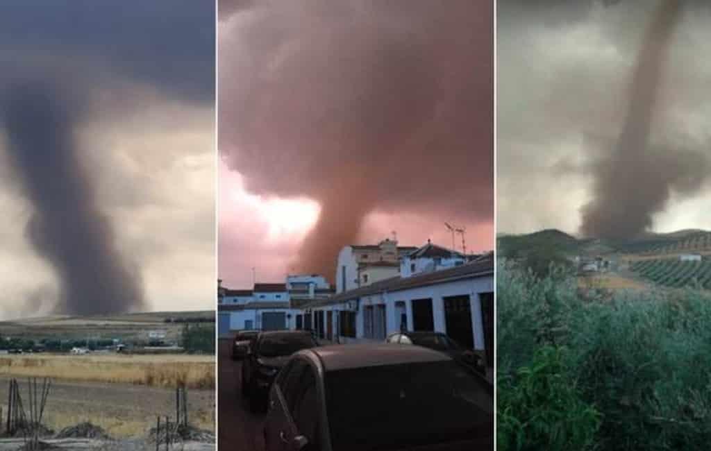 Spectaculaire tornado in binnenland provincie Málaga zorgt voor schade
