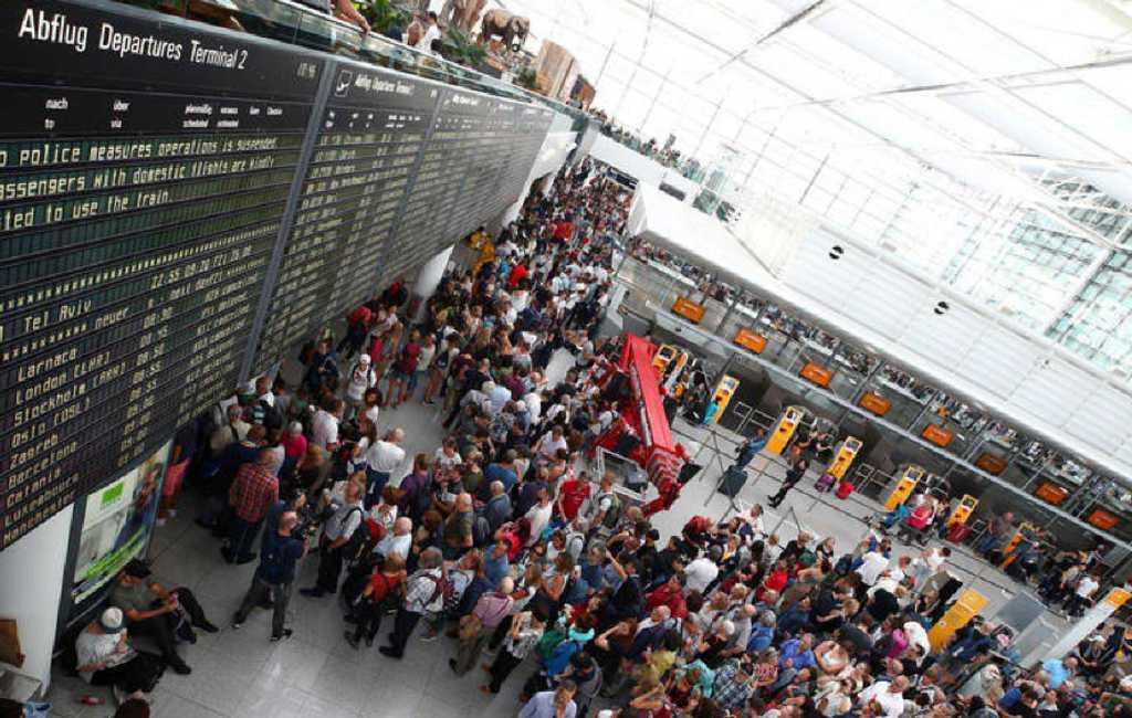 Spanjaard zorgt onbewust voor paniek op vliegveld München