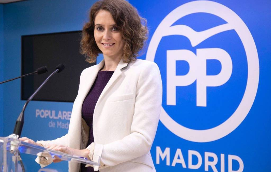 Isabel Díaz Ayuso dankzij Ciudadanos en VOX nieuwe regiopremier Madrid