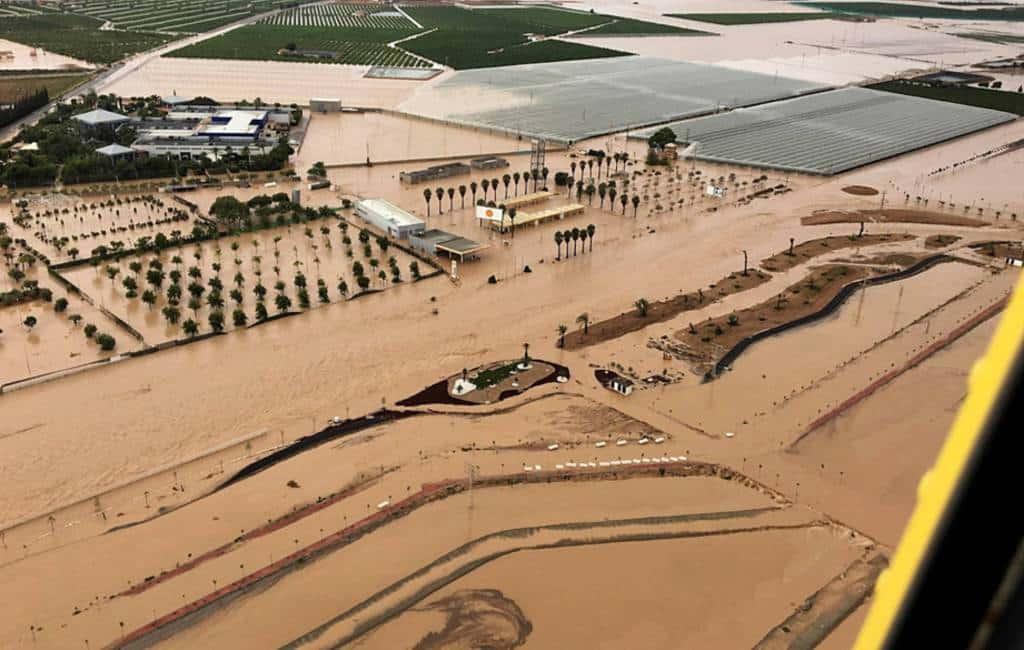 Situatie noodweer en overstromingen Zuidoost-Spanje