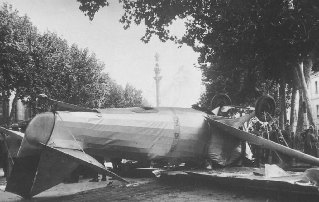 Vliegtuig stort neer op de Ramblas in Barcelona … in 1934
