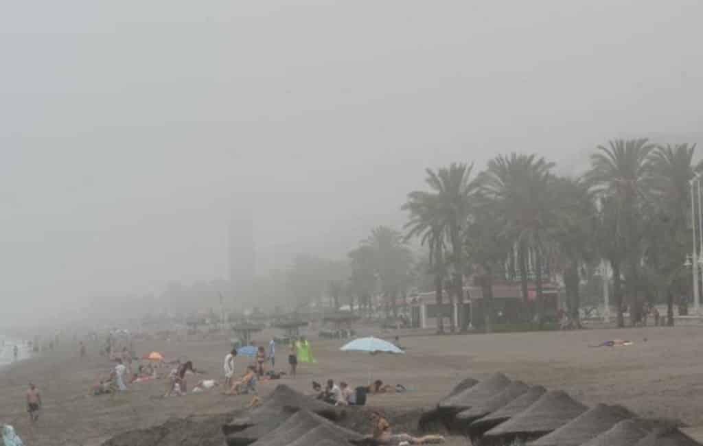 Veel hinder vanwege 'taro' mist in Málaga
