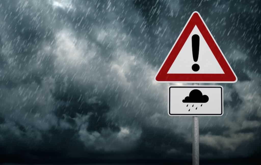 Hevige regenval en hagel verwacht langs de Middellandse Zeekust