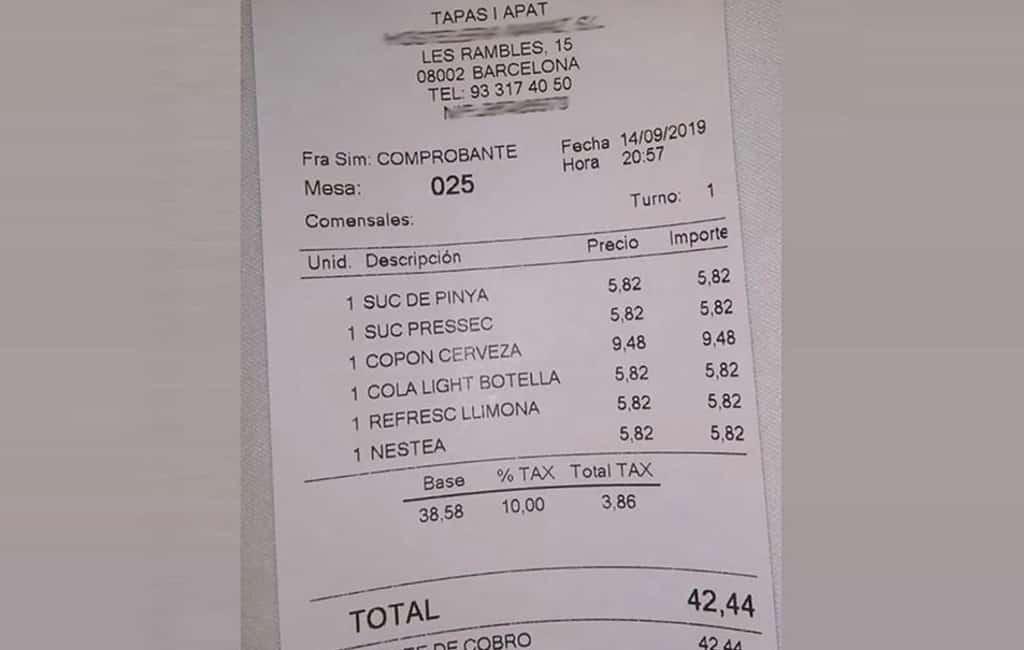 Verontwaardiging over drankprijzen op de Ramblas in Barcelona