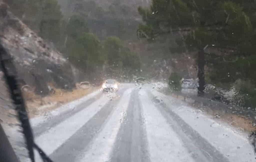 Wind, regen, hagel en sneeuw in Andalusië