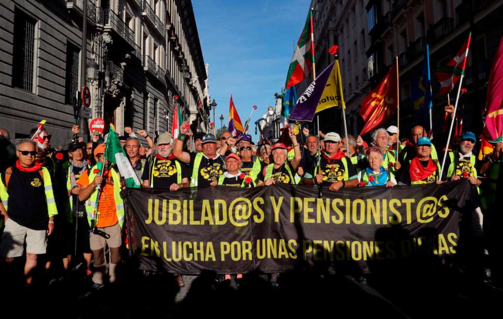 Gepensioneerden protesteren in Madrid voor betere pensioenen
