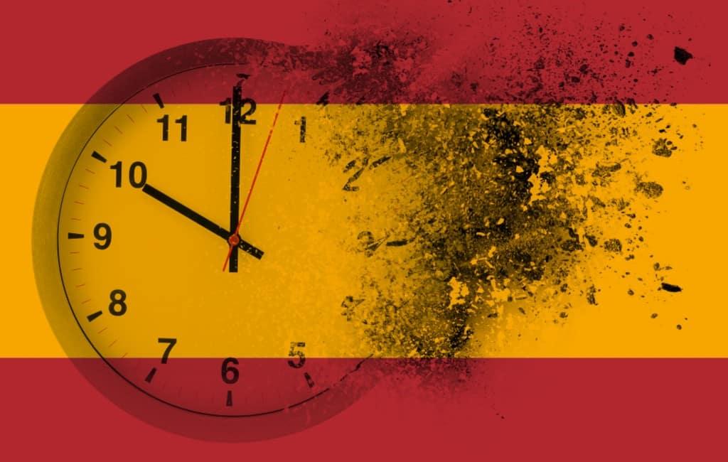 Spanje moet een uur terug om de Greenwich-tijd aan te houden