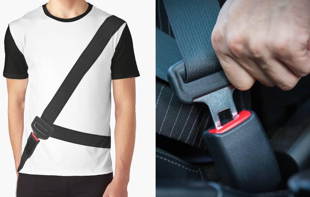 Politie waarschuwt voor anti-autogordel t-shirt in Spanje