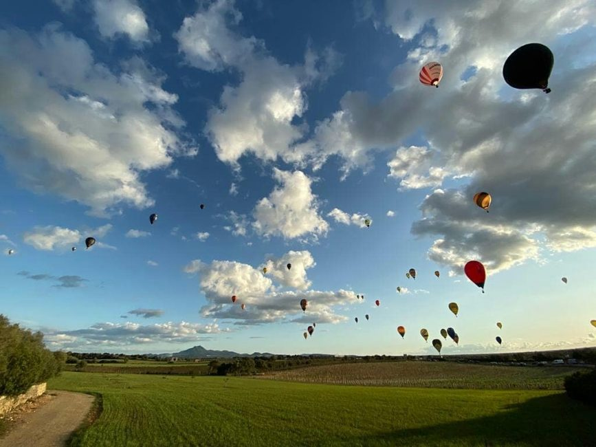 Eerste internationale heteluchtballonnen wedstrijd op Mallorca