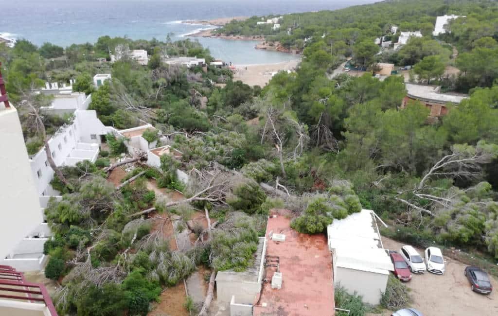 Drie gewonden na tornado tijdens slecht weer op Ibiza