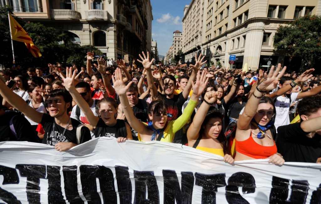 Regionale staking in Catalonië op vrijdag 18 oktober