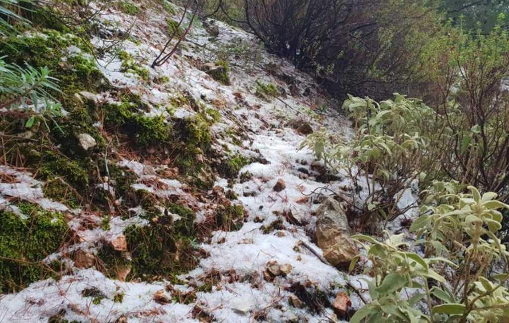 Eerste sneeuwval deze winter op Mallorca