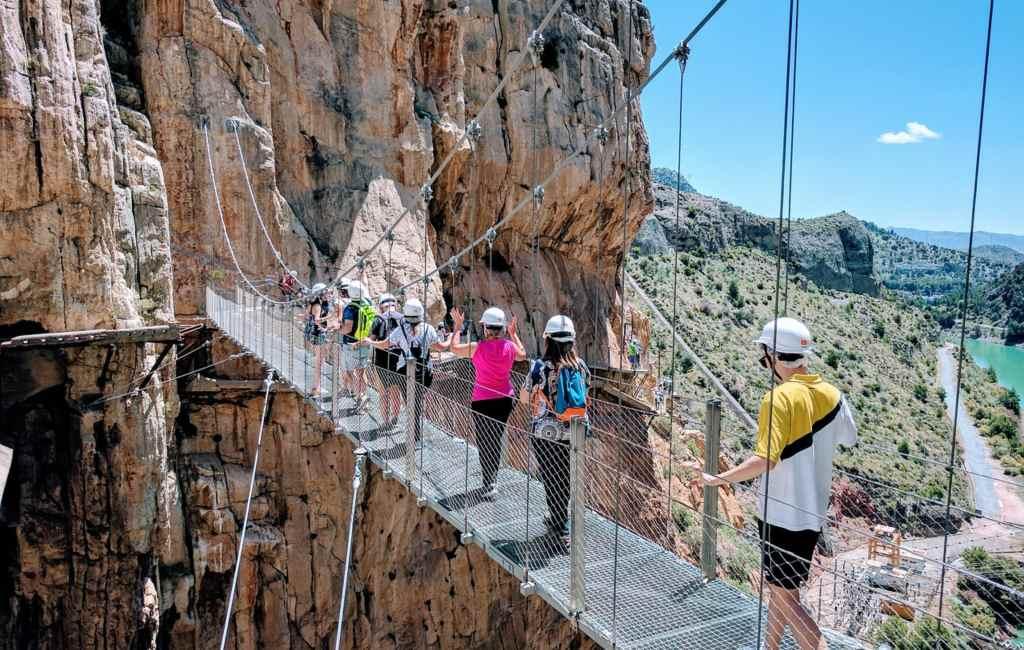 Caminito del Rey in Málaga belangrijk voor ontwikkeling regio