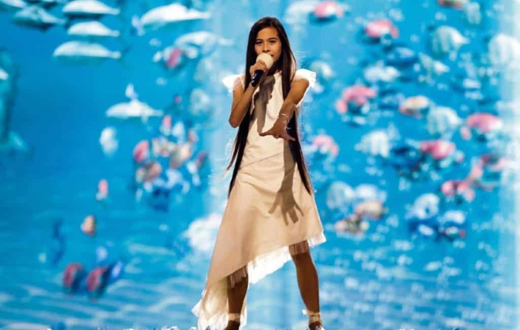 Spaanse Melani eindigt als derde bij Junior Eurovisiesongfestival