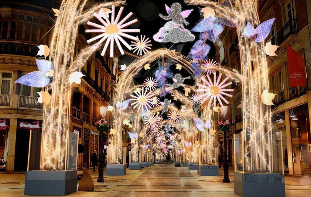 Málaga begint voorbereiding spectaculaire kerstverlichting Calle Larios