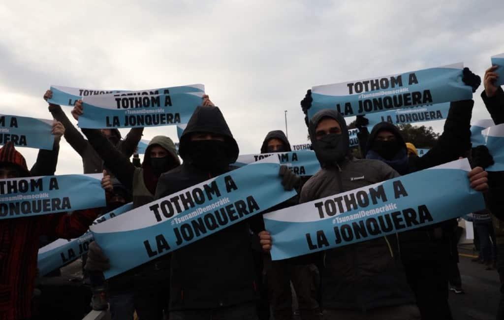 Grensovergang AP-7 bij La Junquera opnieuw gesloten door manifestatie