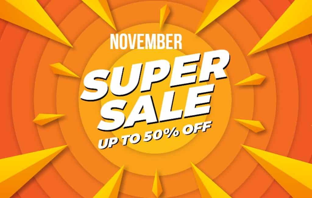 November is kortingsmaand bij (online) winkels in Spanje