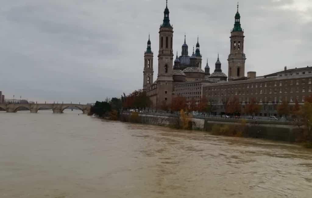 Alarm vanwege snel stijgend waterpeil Ebro rivier in Aragon