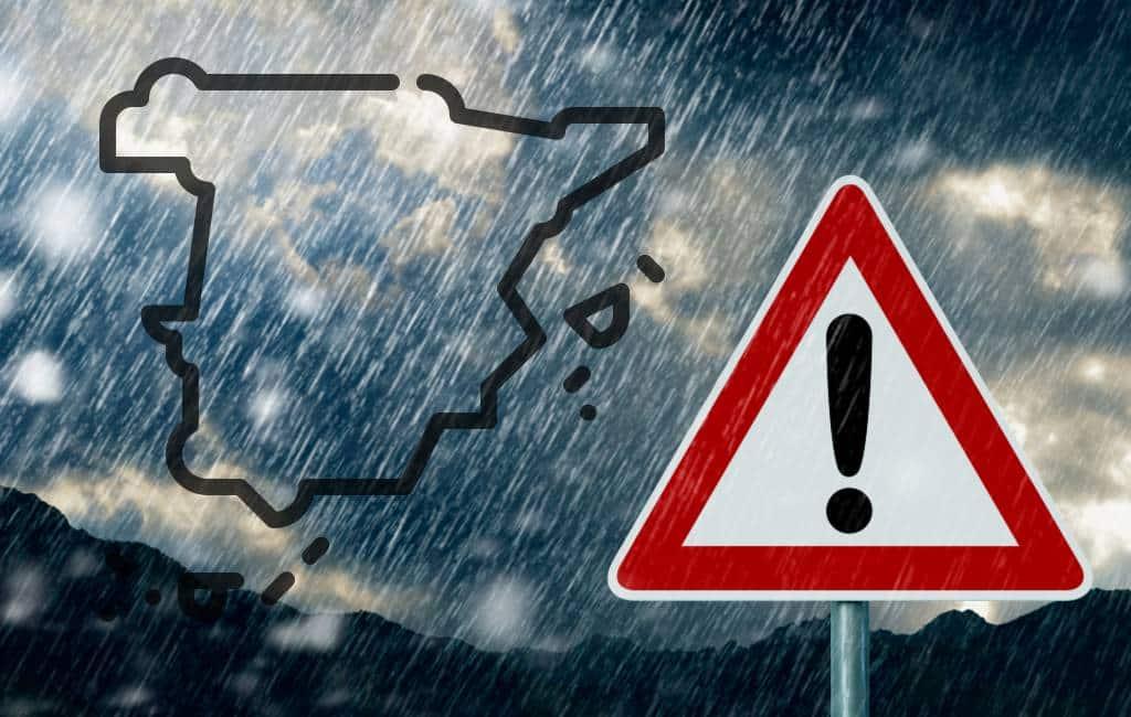 Wateroverlast in Murcia, Alicante en Balearen vanwege noodweer