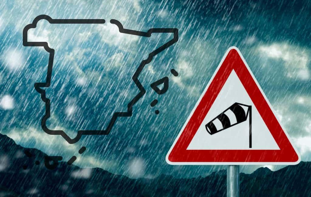 Orkaanachtige windsnelheden in Spanje