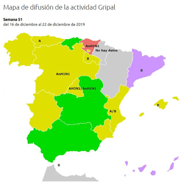 Aantal griepgevallen snel gestegen in Baskenland, Catalonië en Canarische Eilanden