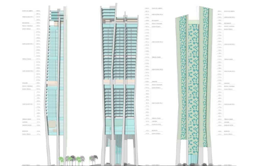 Nieuw wolkenkrabber-hotel van 60 verdiepingen in Benidorm