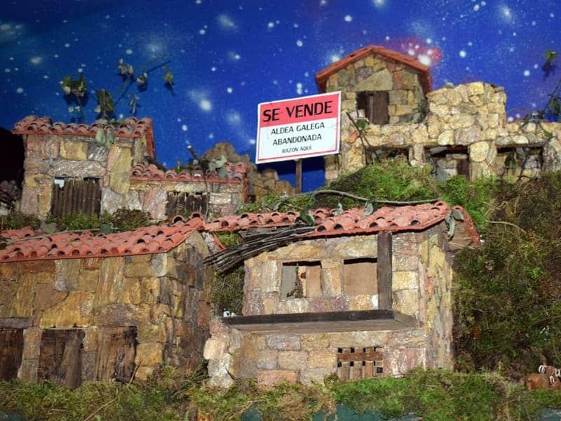 De kerststal van Valga in Galicië die de actualiteit laat zien