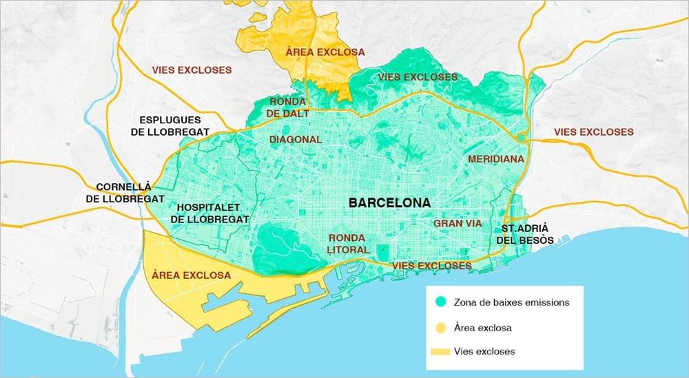 Vervuilende voertuigen niet meer welkom in Barcelona
