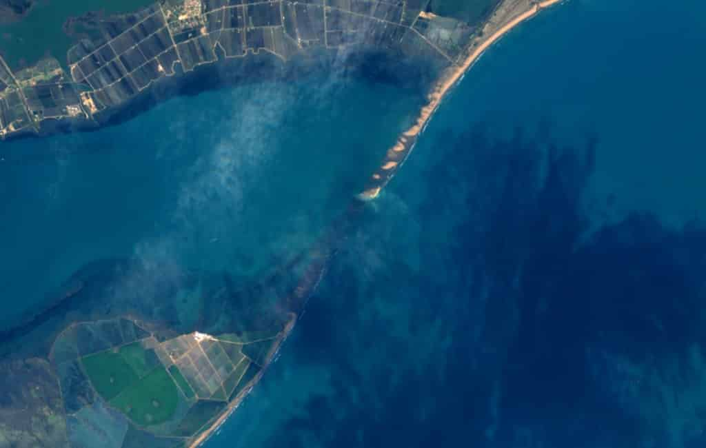 Nieuw eiland geboren in de Ebro Delta in Tarragona?