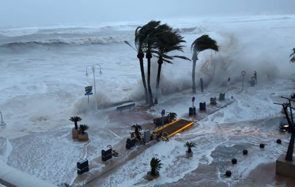 Video's noodweer Middellandse Zeekust Murcia, Alicante en Valencia