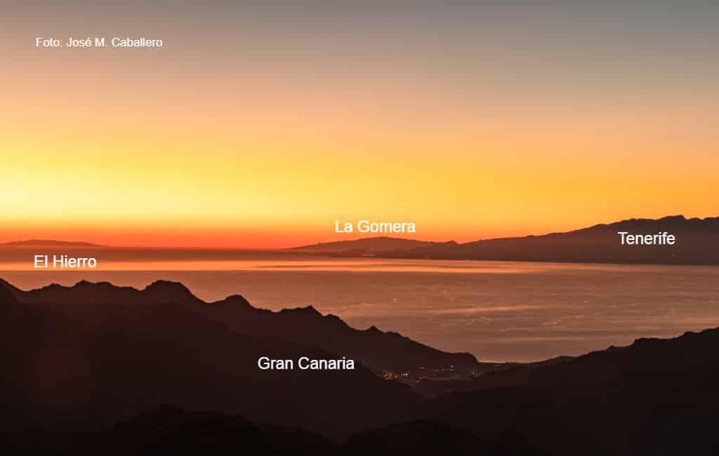 Gran Canaria, Tenerife, La Gomera en El Hierro op een unieke foto