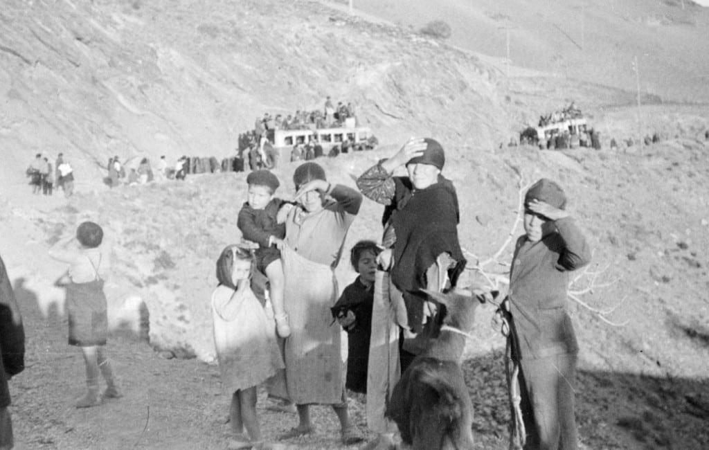 83 jaar na bloedbad route Málaga-Almería wordt de 'Desbandá' herdacht