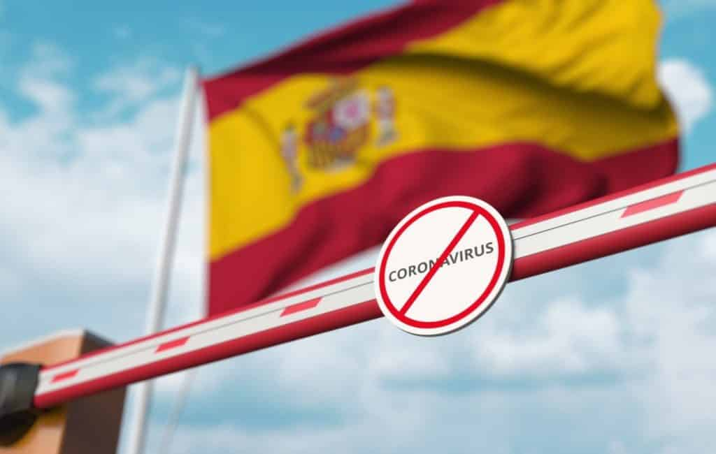 Buitenlanders mogen vanwege de noodtoestand Spanje niet meer in
