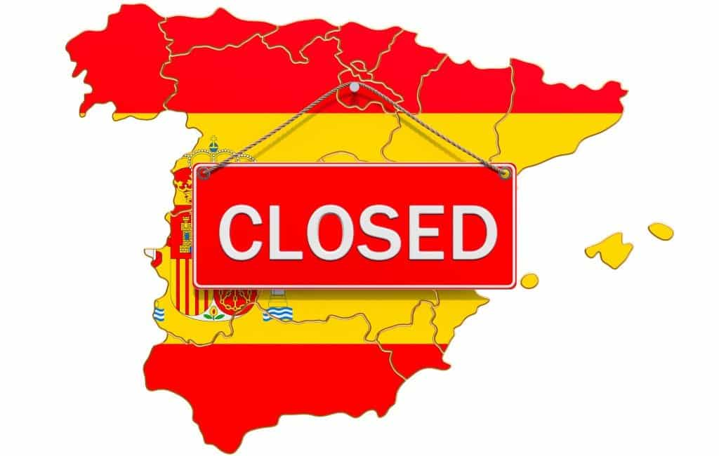 Alleen nog vitale werkzaamheden en beroepen in Spanje
