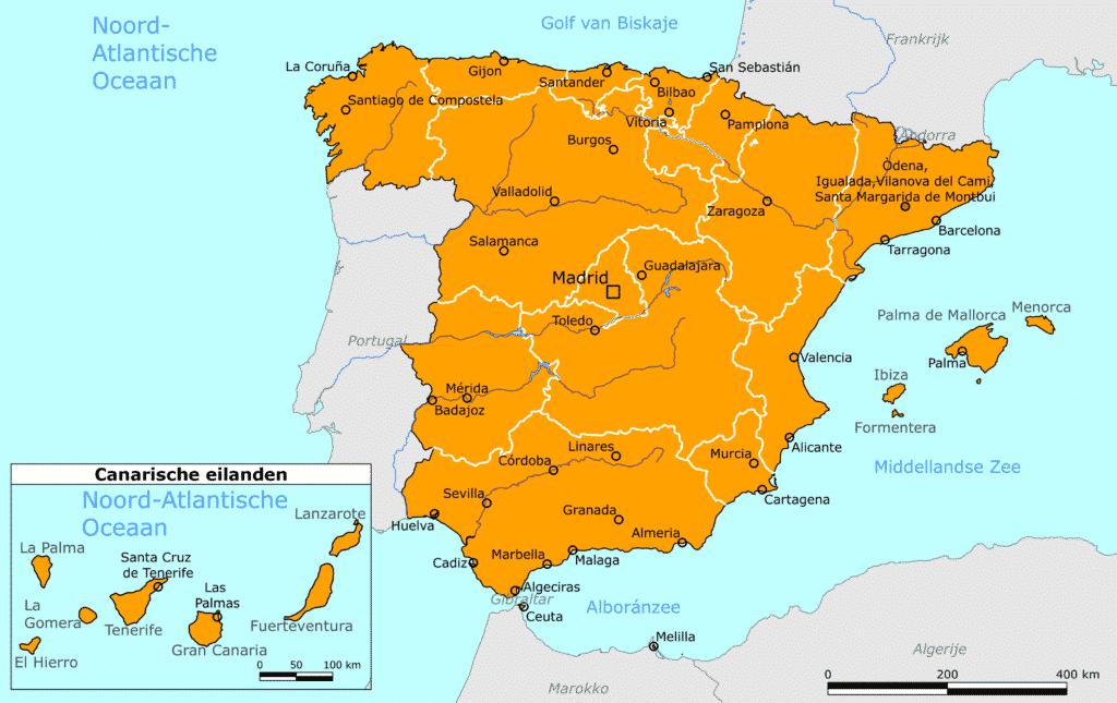 Nederland past reisadvies Spanje aan naar kleur oranje