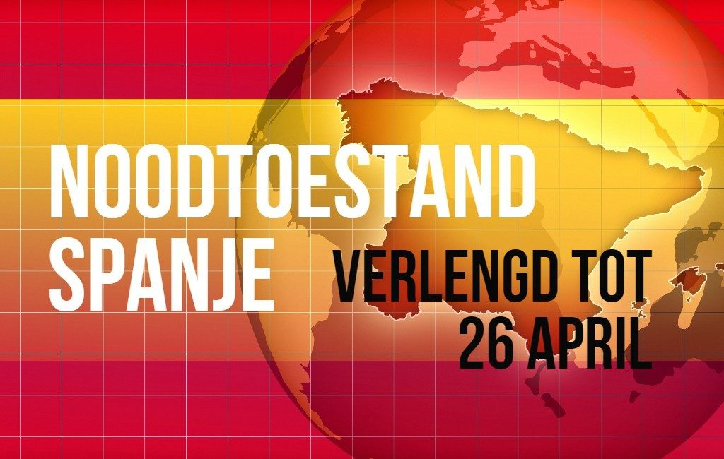 Spanje verlengt noodtoestand met twee weken tot 26 april