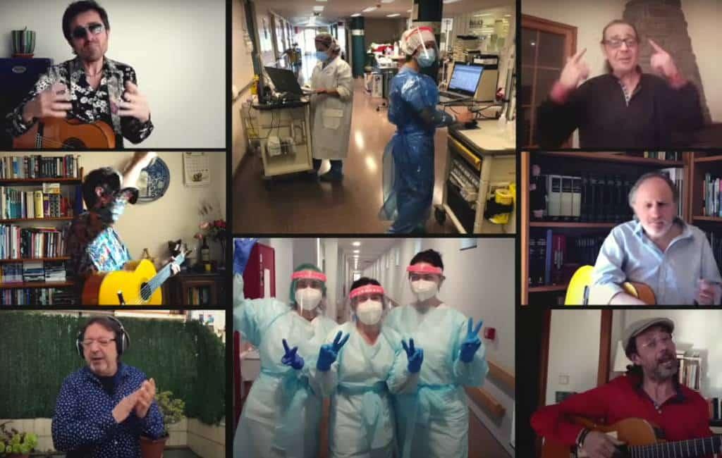 Vrolijk lied 'Amigos para siempre' in corona-stijl voor het medisch personeel
