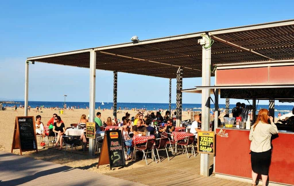 Chiringuitos in Barcelona willen deze zomer hun strandbars niet openen