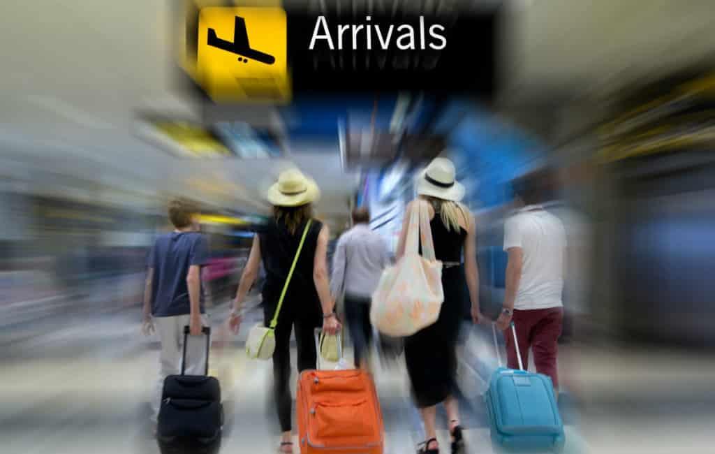 64% minder buitenlandse vliegtuigpassagiers in maart in Spanje