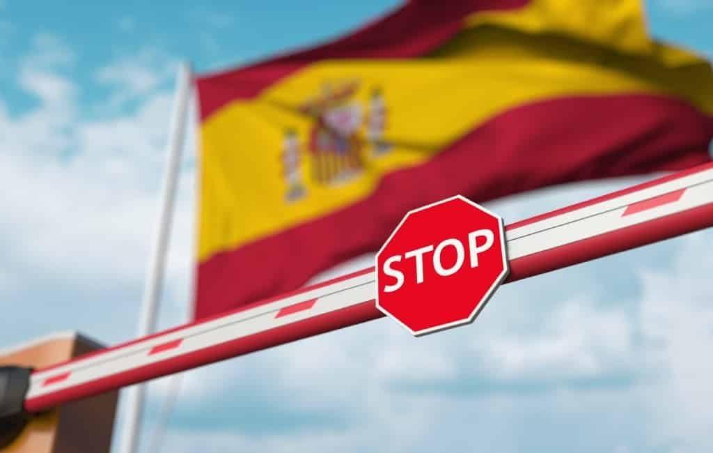 Grenzen Spanje voorlopig nog tot 24 mei gesloten