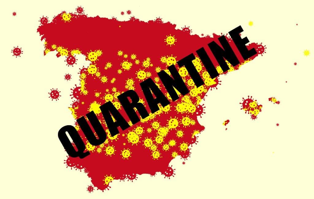 Verplichte quarantaine Spanje geldt alleen tijdens noodtoestand