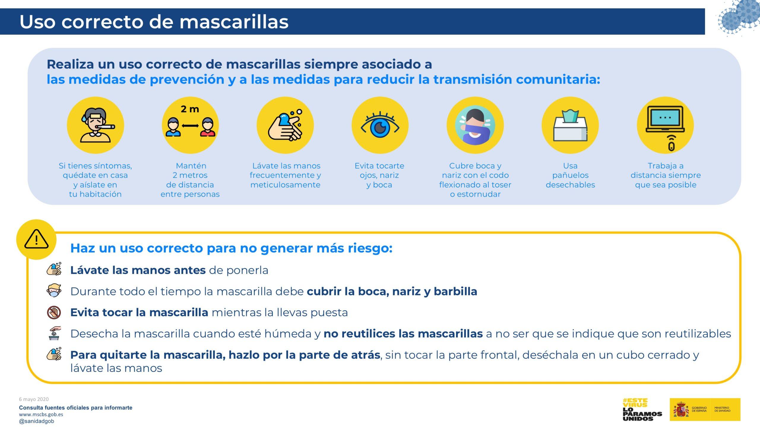 Mondmaskers vanaf donderdag 21 mei verplicht in Spanje
