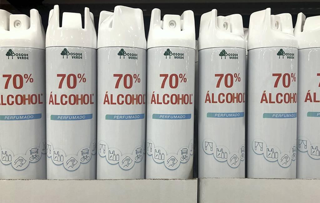 Mercadona verkoopt 50.000 desinfecterende alcohol sprays per dag