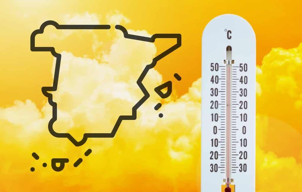 Hoge temperaturen in Spanje tot 40 graden dit weekend