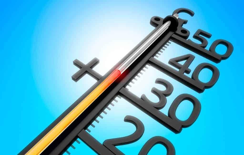 Hoogst gemeten temperatuur op 3 mei: 36,5 graden in Sevilla