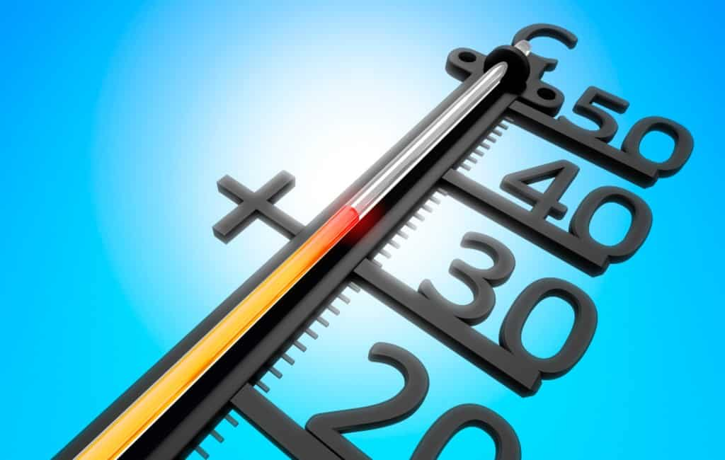 Hoogst gemeten temperatuur 33,8 graden in Alicante