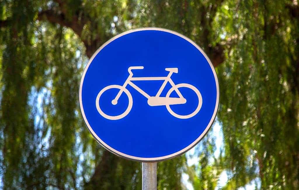 Verkeersborden voor fietsers in Spanje