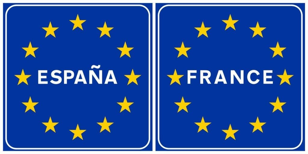 656 km lange Spaans-Franse grens weer open