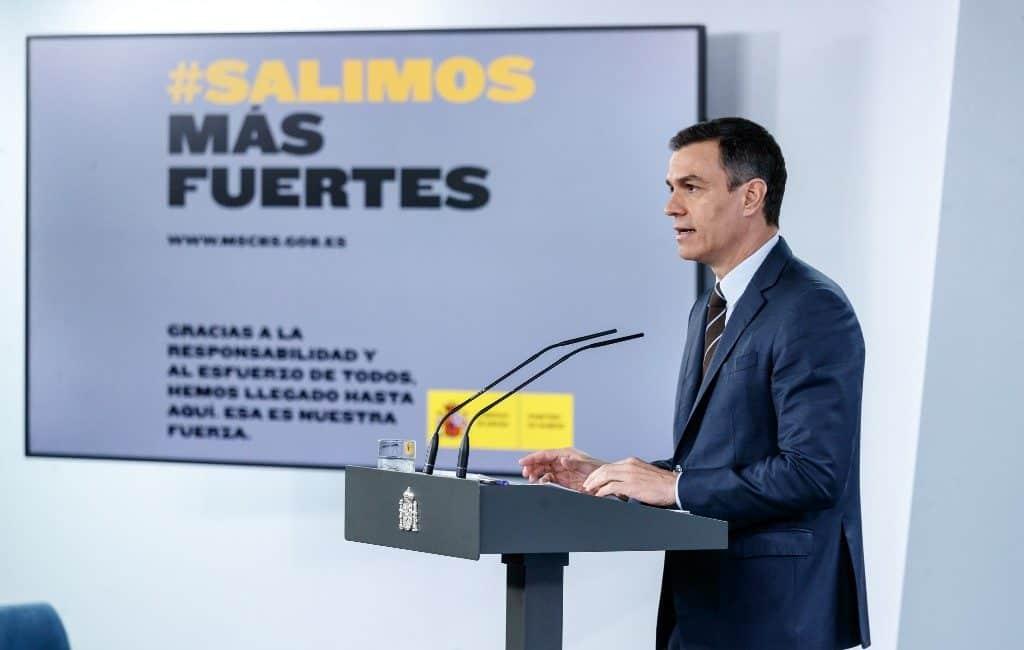 Premier Spanje maakt enkele maatregelen post-corona bekend